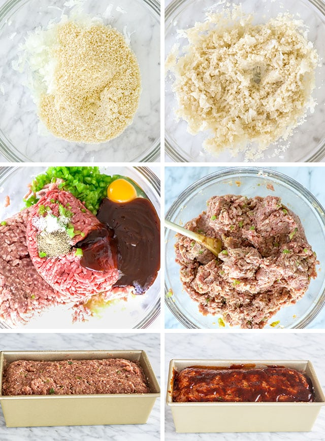 process shots for making meatloaf