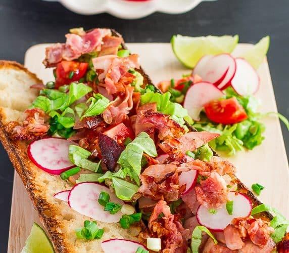 a mexican blt sandwich