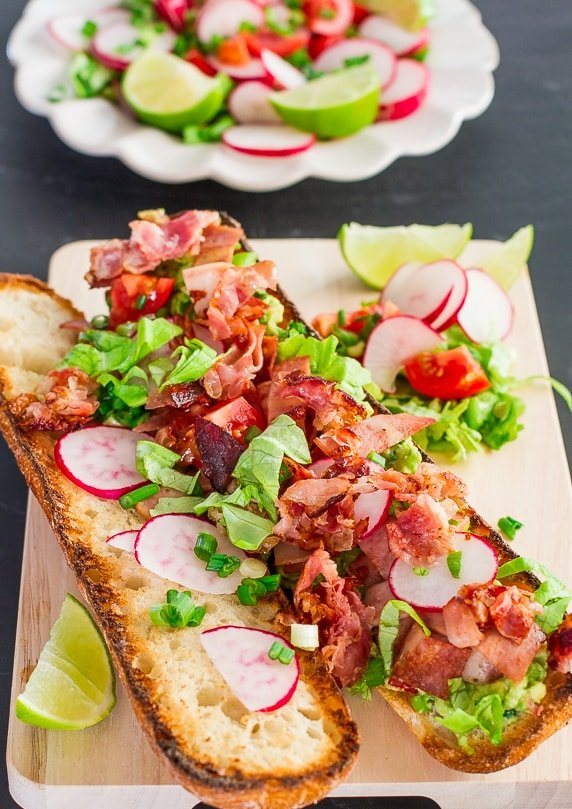 Mexican BLT with Guacamole is a healthier way to eat a BLT, there are ...