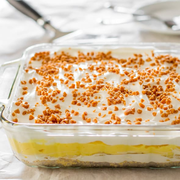 No Bake Banana Pudding Dessert – 5 layer banana pudding dessert, no