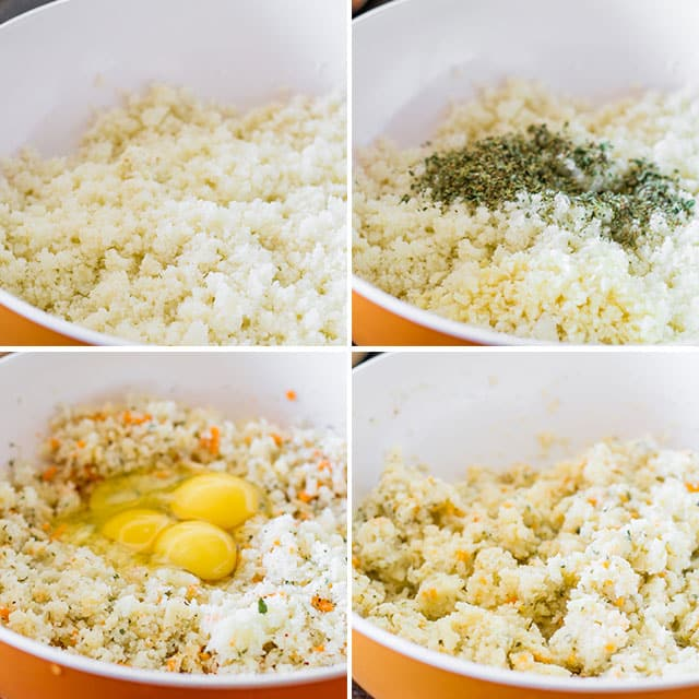 Cheesy Cauliflower Breadsticks process shots