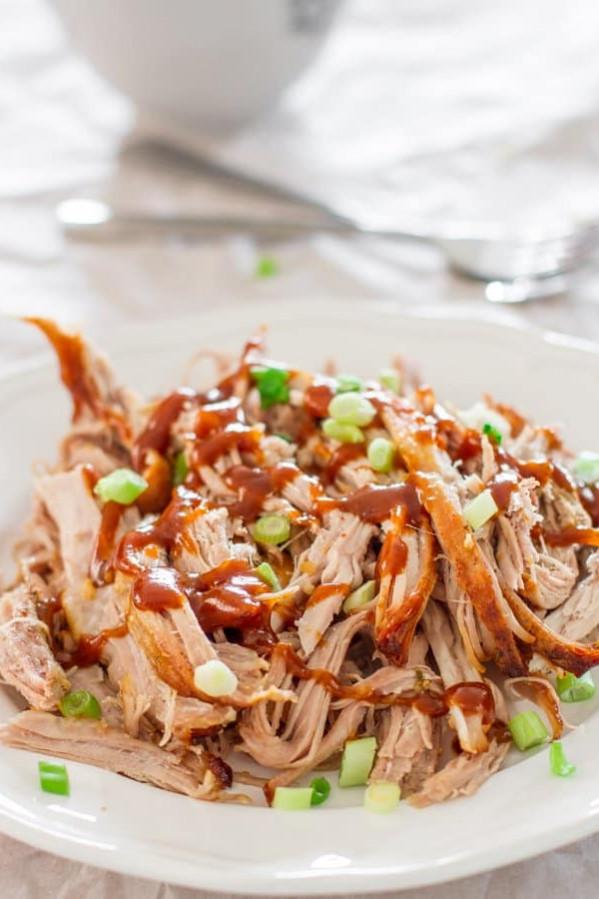 crock pot honey parmesan pork roast on a plate