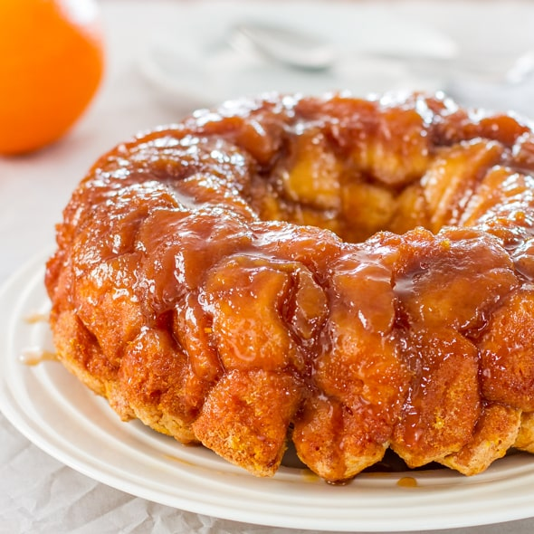 freshly made orange monkey bread