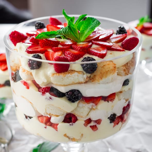 Angel Fruit Trifle Recipe — Dishmaps