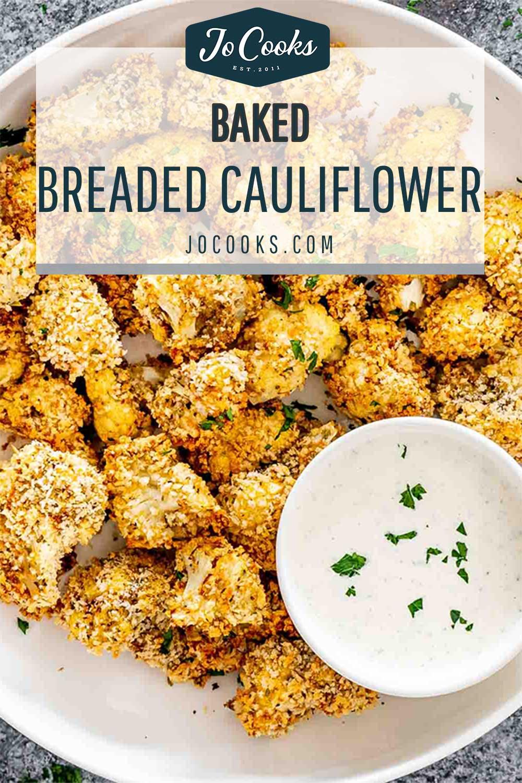 pin for baked breaded cauliflower.