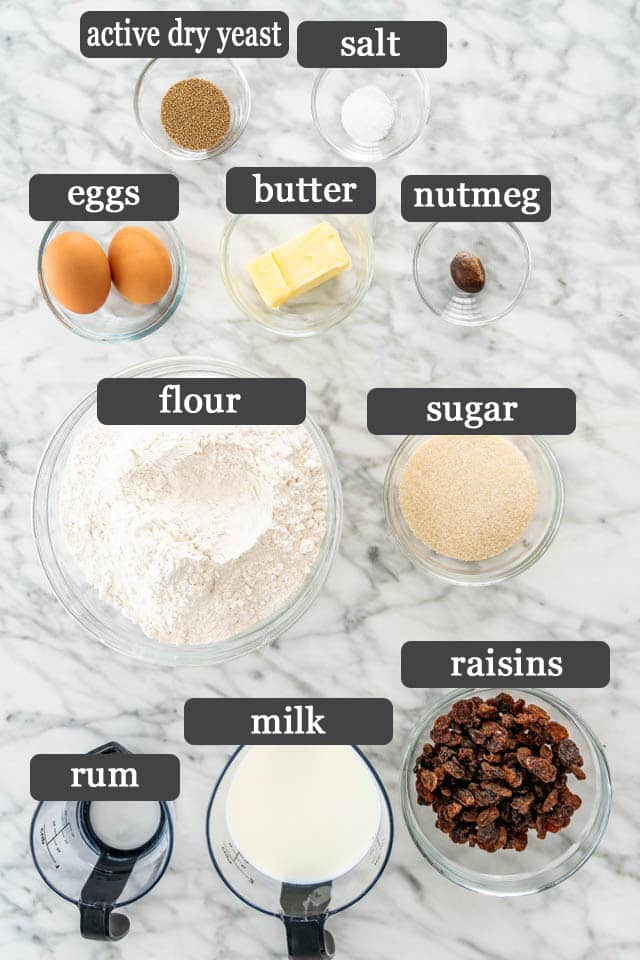 Hot Cross Buns ingredients
