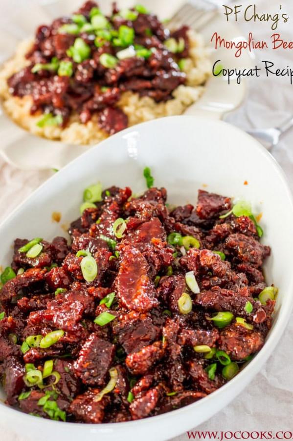 a bowl of copycat changs mongolian