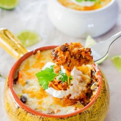 Chicken Enchilada Quinoa Bake