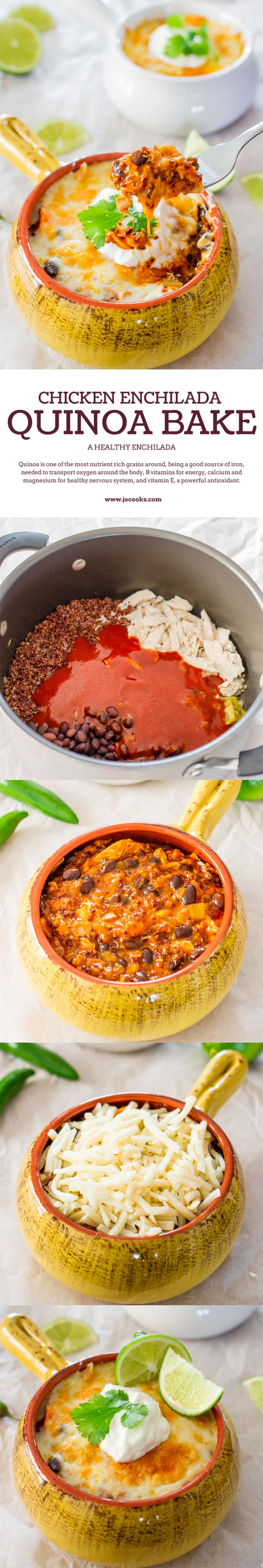 chicken-enchilada-quinoa-bake-collage