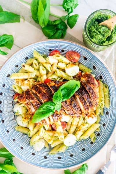 Chicken Pesto Caprese Pasta