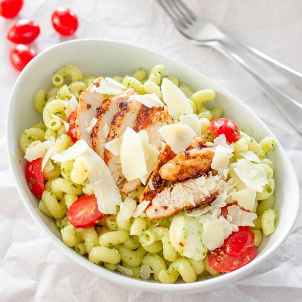 Caprese Chicken Pasta Recipe — Dishmaps