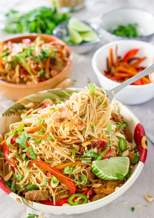 Crockpot Chinese Pork with Noodles - Jo Cooks