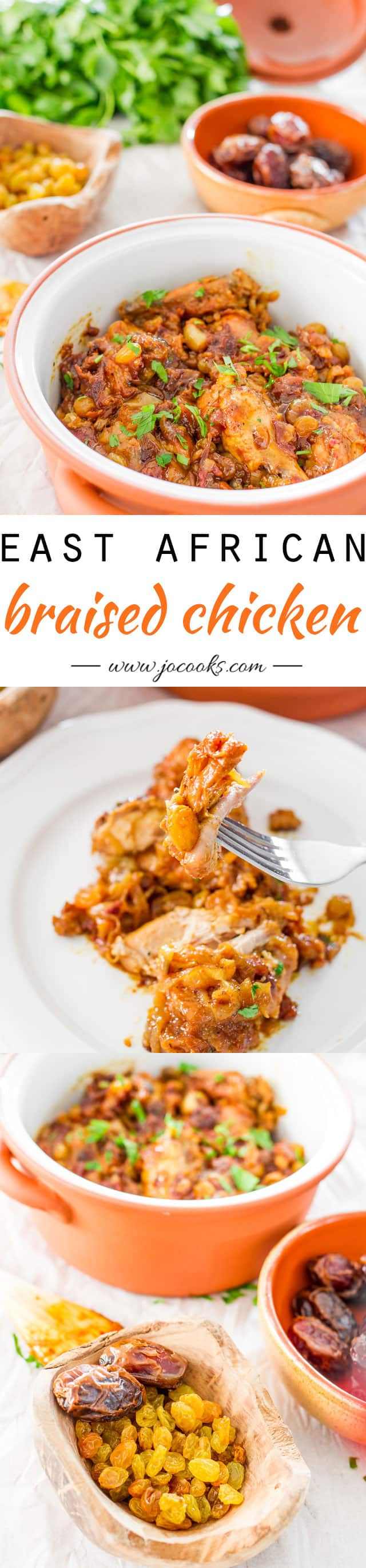 East African Braised Chicken photo collage