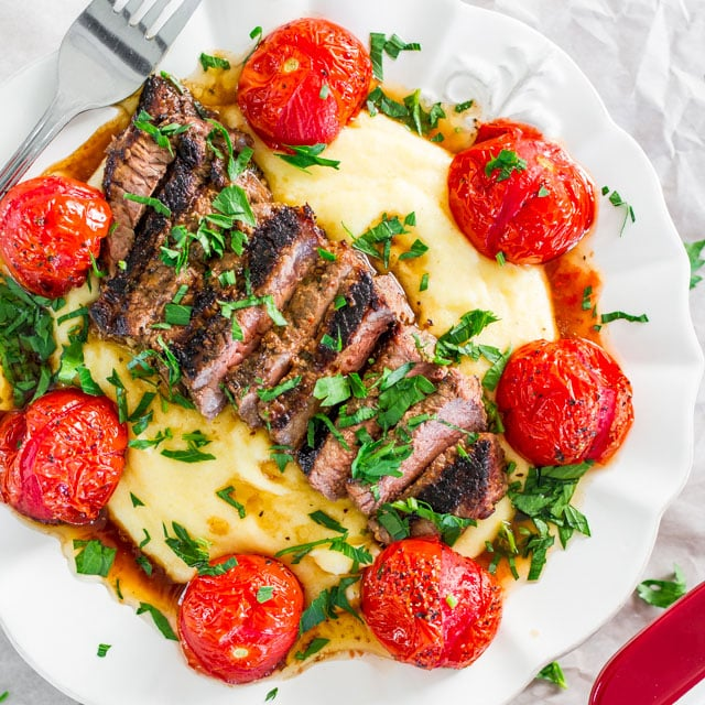 creamy-polenta-with-grilled-steak-and-roasted-tomatoes-4