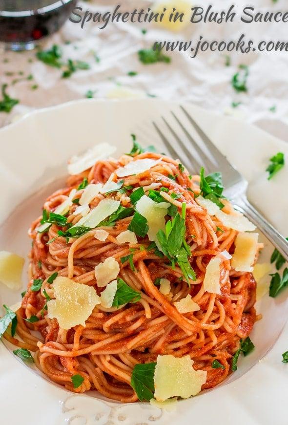 Spaghettini in Blush Sauce