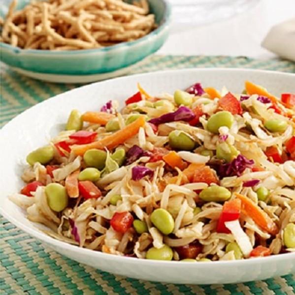 a bowl of crunchy asian salad