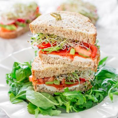 Smoked Salmon and Veggie Sandwiches