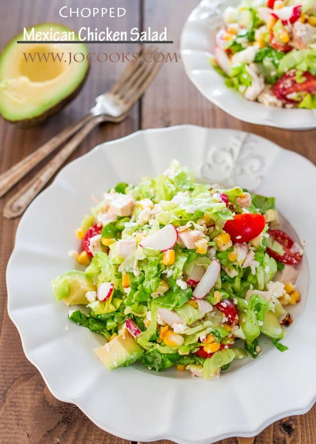 Chopped Mexican Chicken Salad