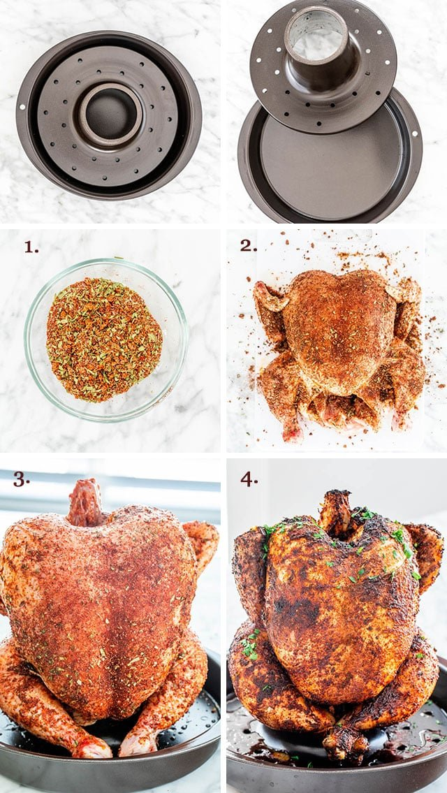 Beer Can Chicken process shots