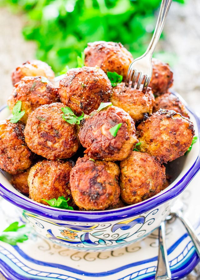 romanian meatballs in a bowl