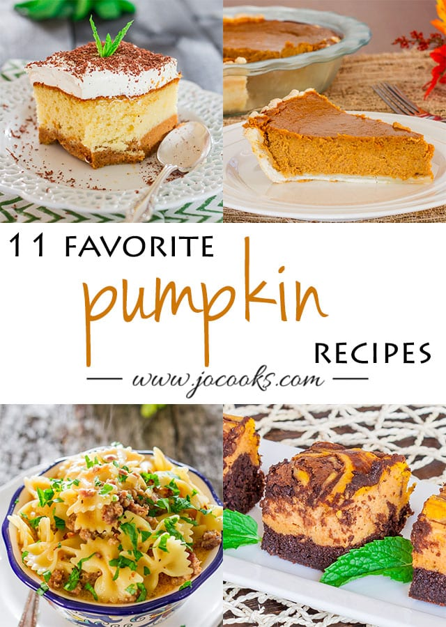 11 Favourite Pumpkin Recipes photo collage