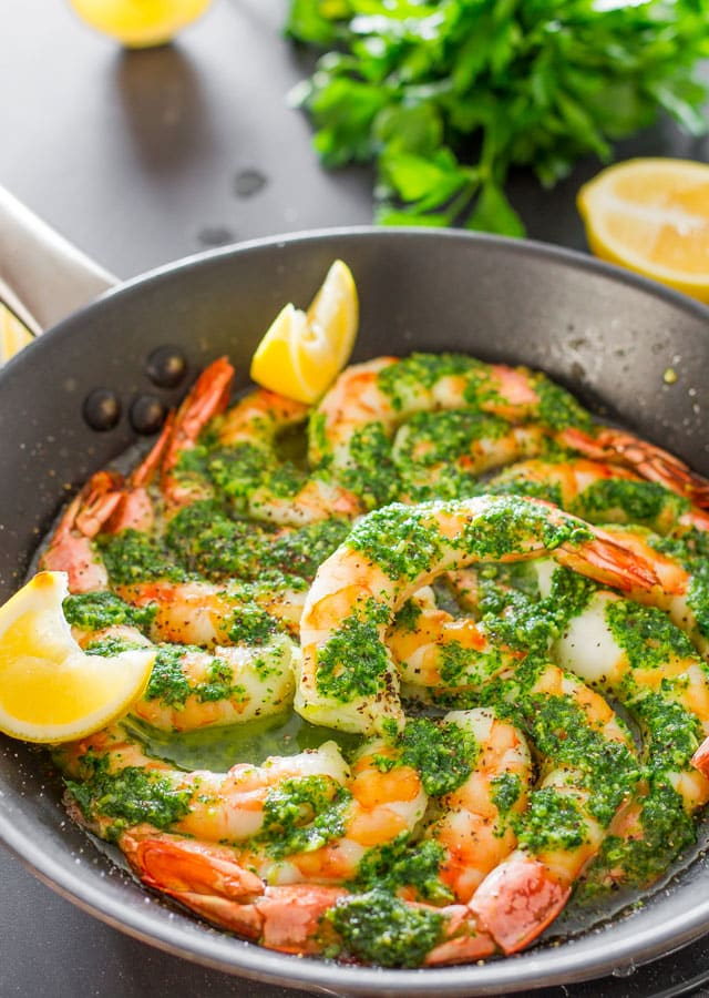 Garlic Parsley Butter Shrimp