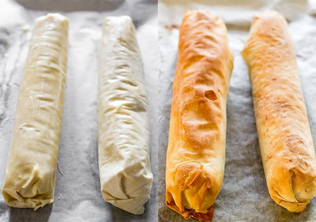 This mushroom and leek strudel is perfect for a holiday appetizer, so ...