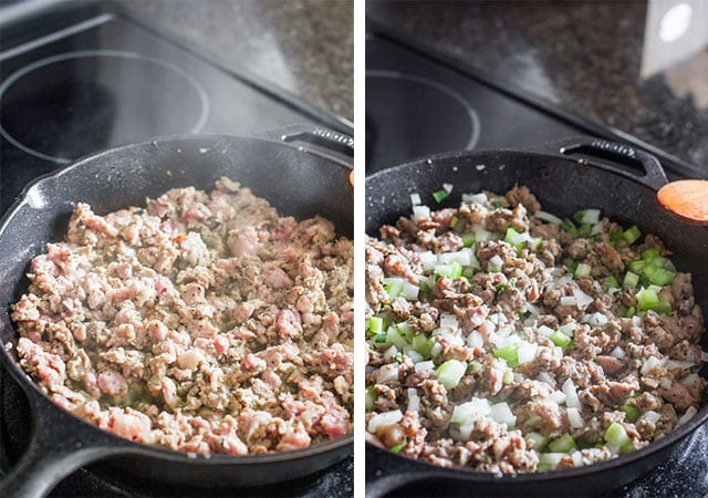 Sage Sausage Stuffing - a classic sausage stuffing recipe th..