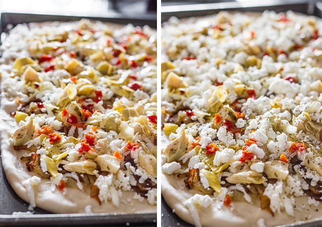 artichoke-sun-dried-tomato-and-goat-cheese-pizza-collage4