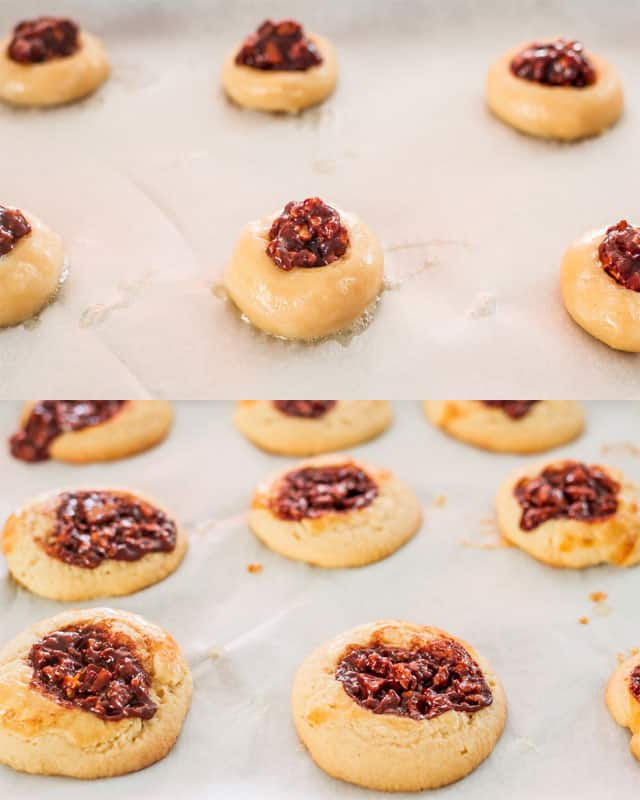 Chocolate Pecan Pie Cookies process shots