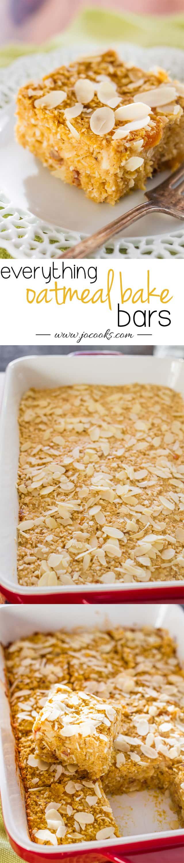 Everything Oatmeal Bake Bars photo collage