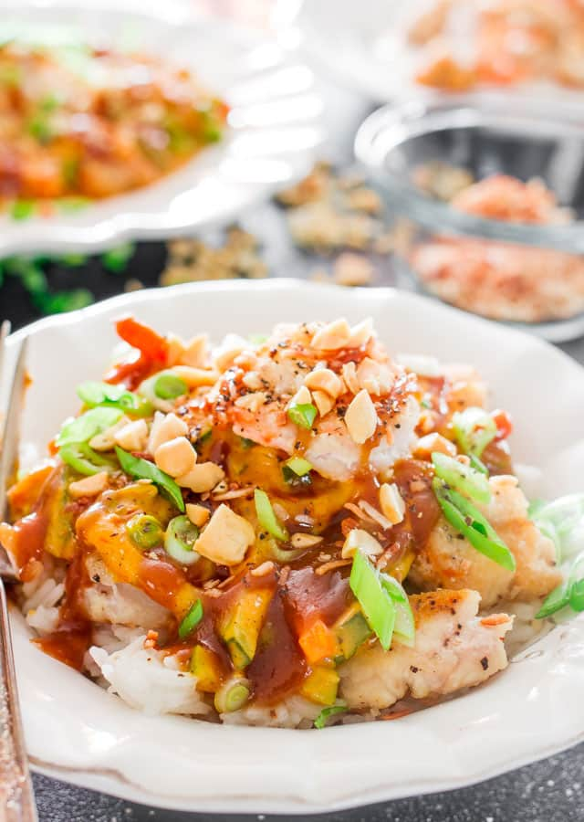 Copycat Cheesecake Factory Bang Bang Chicken and Shrimp