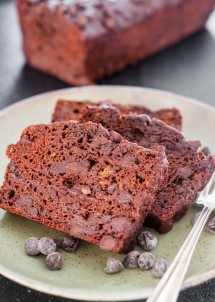 Skinny Double Chocolate Banana Bread