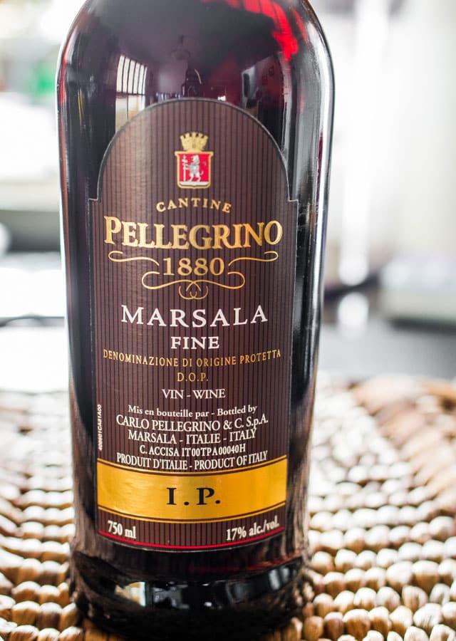 a bottle of marsala wine