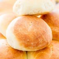 a pile of homemade slider buns