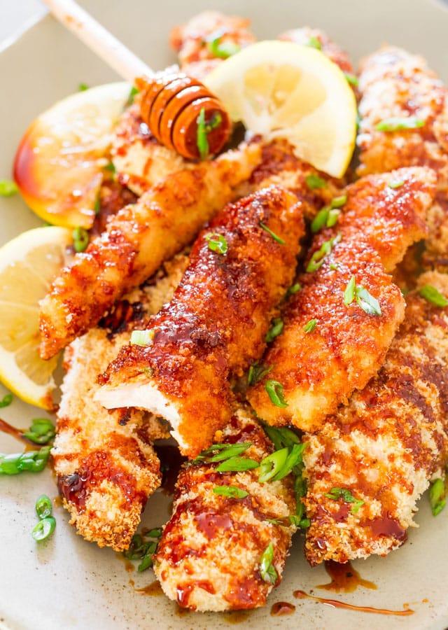 Asian Glazed Chicken Fingers - Jo Cooks