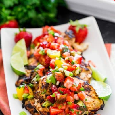 Cilantro Lime Chicken with Strawberry Salsa