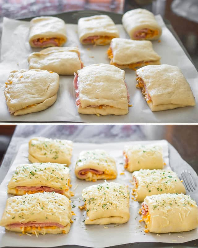 Ham and Cheese Pockets read to be baked