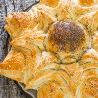 freshly baked loaf of sunflower bread