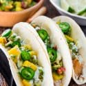 Blackened Fish Tacos with Mango and Avocado Salsa