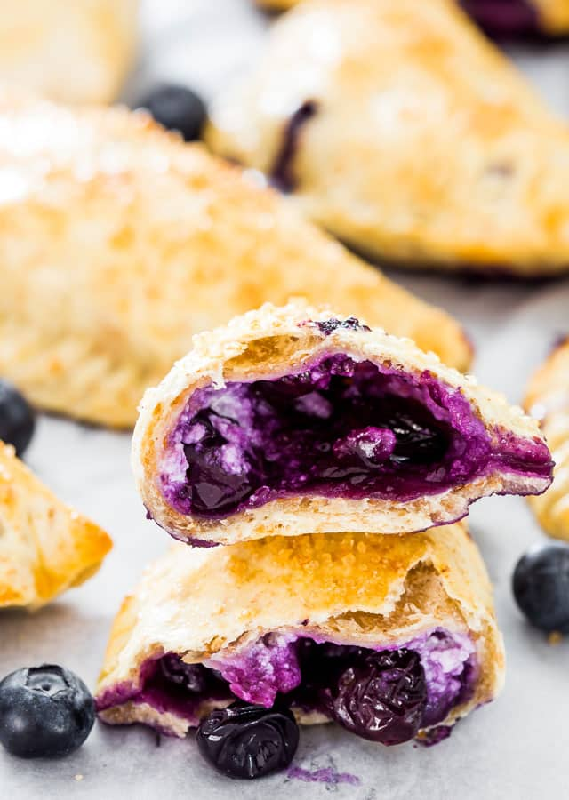 Blueberry Goat Cheese Empanadas - not your everyday run of the mill empanadas. These empanadas are stuffed with creamy goat cheese and fresh blueberries.