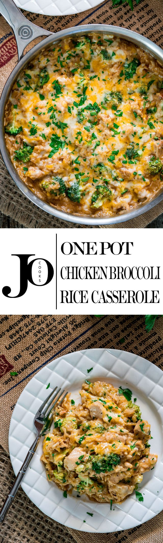 This Cheesy Chicken Broccoli Rice Casserole is made all in ONE POT and ready in only 30 minutes. It's cheesy, it's comforting, loaded with broccoli and super simple to make! #casserole #ricecasserole