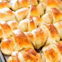 freshly baked jelly filled rolls