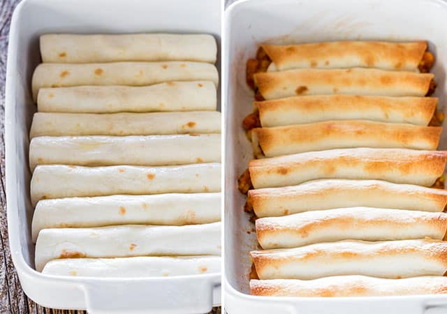 Chicken Taco Taquitos - these yummy chicken taquitos are baked but still cheesy and loaded with delicious goodness! Perfect for an appetizer, a snack or even lunch.