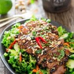 thai steak salad on a plate