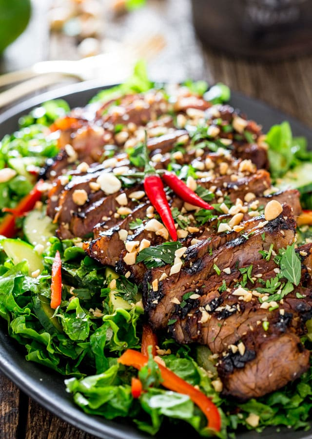 Thai Grilled Steak Salad Recipe — Dishmaps