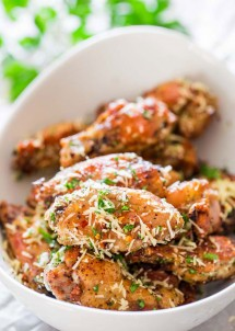 Crispy Baked Parmesan Chicken Wings