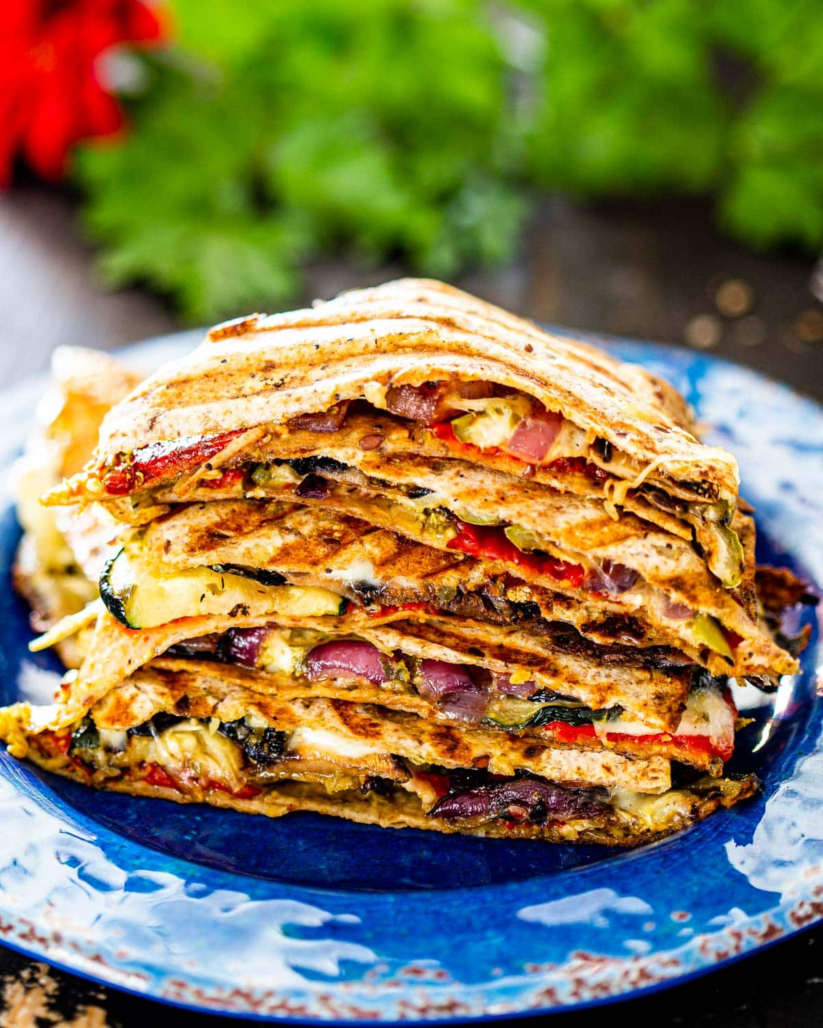 Grilled Vegetable Quesadillas Jo Cooks