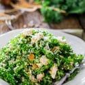 Kale and Quinoa Salad with Lemon Vinaigrette
