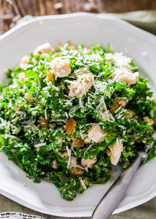 Kale Quinoa Salad with Lemon Vinaigrette